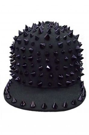 Black Spike SnapBack hat by Queen Trends