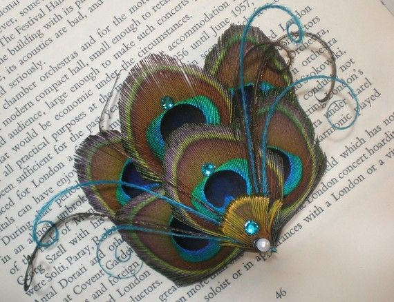 Peacock Fascinator  Made to Order by designbynight on Etsy, $18.50