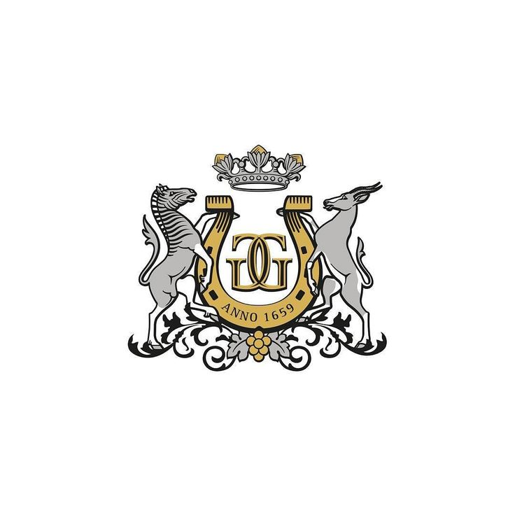 Crest for the #GrootGeluk wine brand.  #haumannsmal #crest #westerncapewine #southafrica #vineplus #logo #design #springbuck #zebra #logodesign