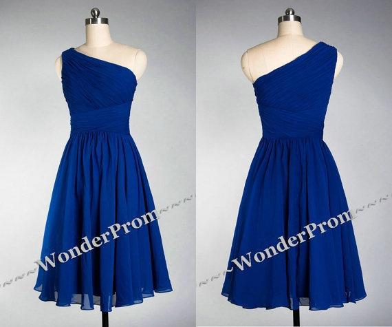 Blue bridesmaid dress, short prom dress, blue bridesmaid dresses, short bridesmaid dress