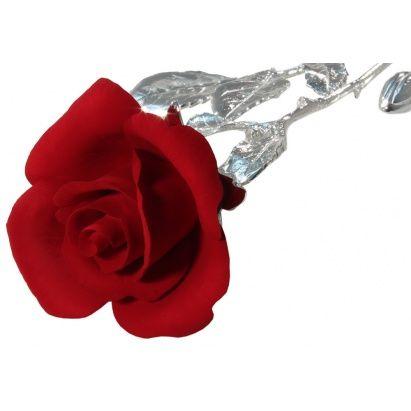 Совершенсво фарфора создает впечатление живой розы. Эта роза - воплощение женственности и превосходства.  Итальянские мастера, вручную расписывая каждый цветок, вложили всю душу в эту розочку. Это отличный подарок по любому поводу и без.  #podarkoff #vip #vippodarki #подаркоффру #подарки #подарок #gifts #russia #Россия #beautiful #сувенир #роза#цветы#серебро