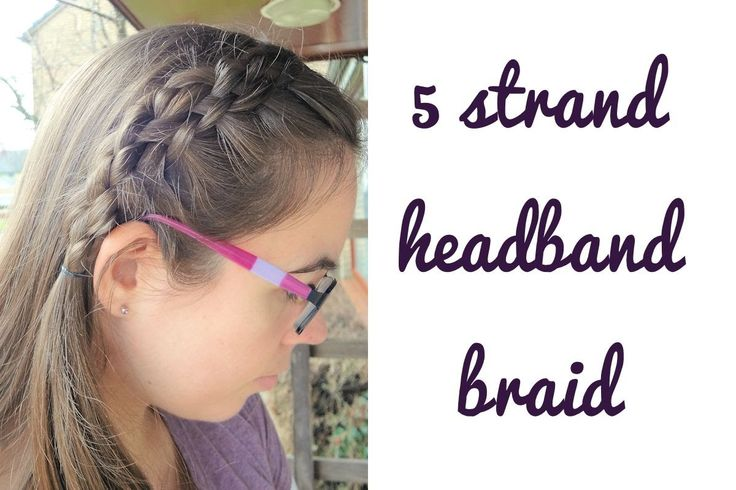 Learn how to do this 5 strand headband braid yourself! Also subscribe to my channel!