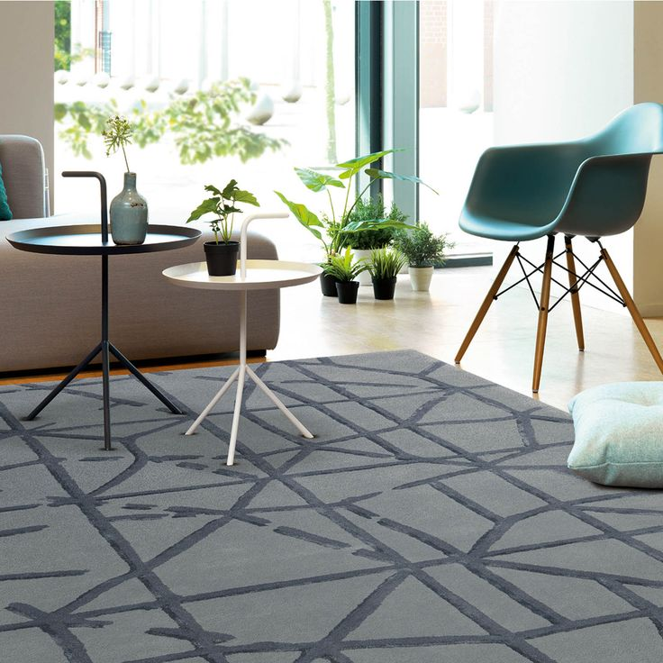 Grid Rugs By The Arte Espina Digital Line Range Features A Stylish Contemporary Design With Shimmering Accents Throughout That Reflect Light