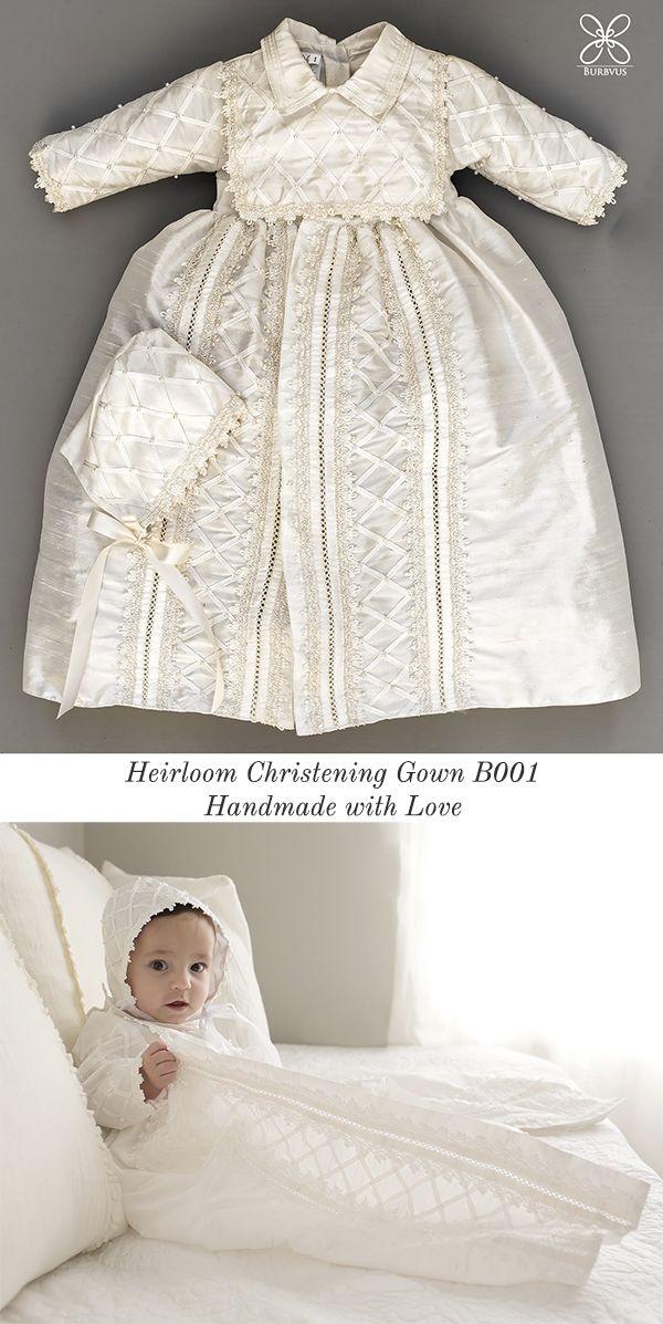 Lovely Christening or Baptism Gown Burbvus B001