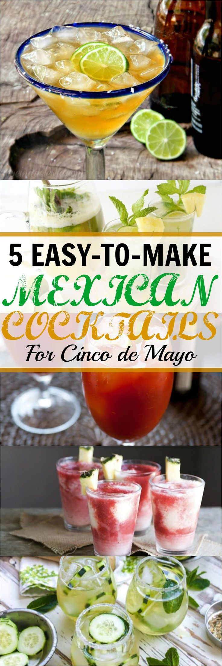 These Mexican cocktails are perfect for your Cinco de Mayo party! Micheladas are one of my favorite drinks - although I prefer them with lime and salt only.