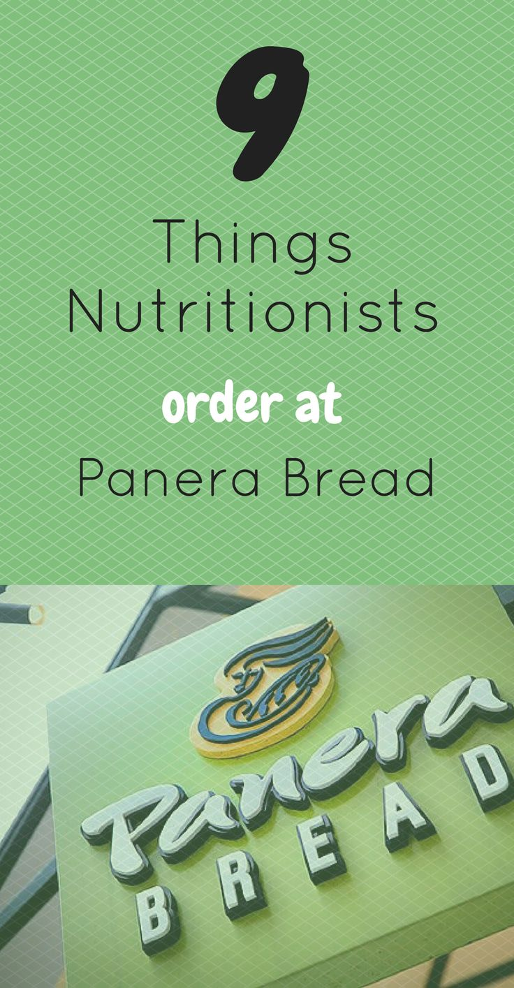 Things Nutritionists Order at Panera
