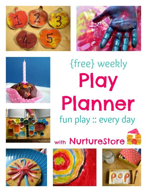 Kids activities all week long with NurtureStore's Play planner - get your copy here!