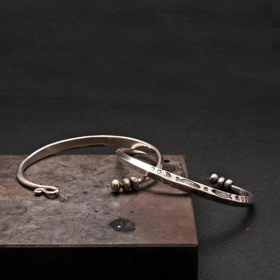 Unisex Sterling Silver Cuff Bracelet Men/Women by SunSanJewelry
