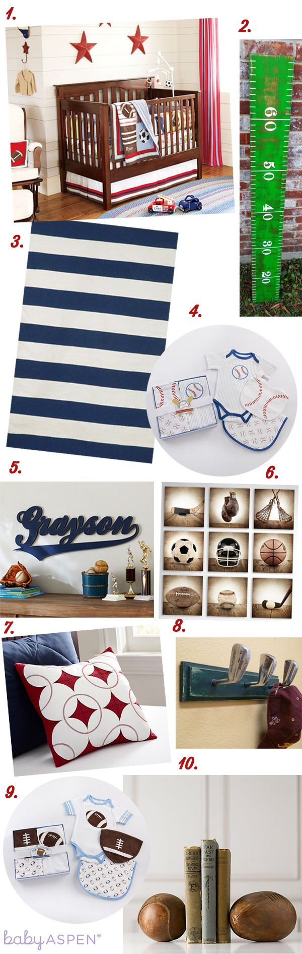 Sports Themed Nursery Inspiration | Cribspiration by Baby Aspen | Little All Star Nursery