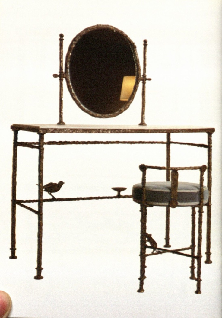 Toilet table by Diego Giacometti