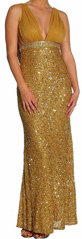 PRIMA Glitz GXL1411 Silk Sequin Cowl Back Evening Gown