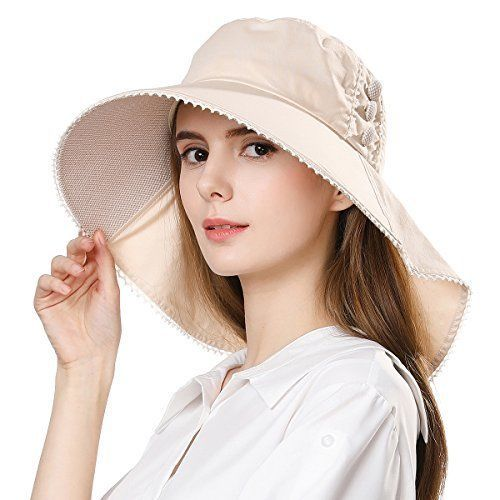 c867ee8ade4 SiggiHat UV Protection Summer Sun Hat Women Packable Cotton Ponytail Chin  Strap #SiggiHat