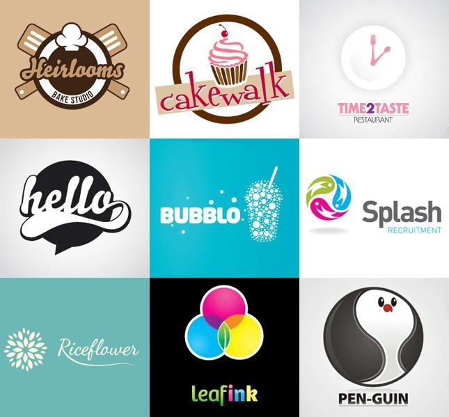 интересные круглые логотипы