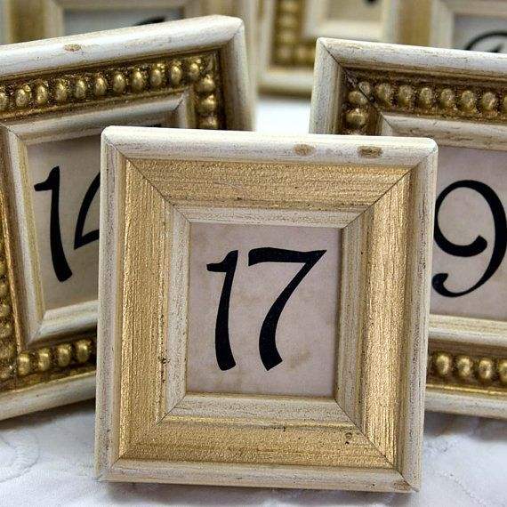 "Re-purposed ""vintage"" frame table numbers"