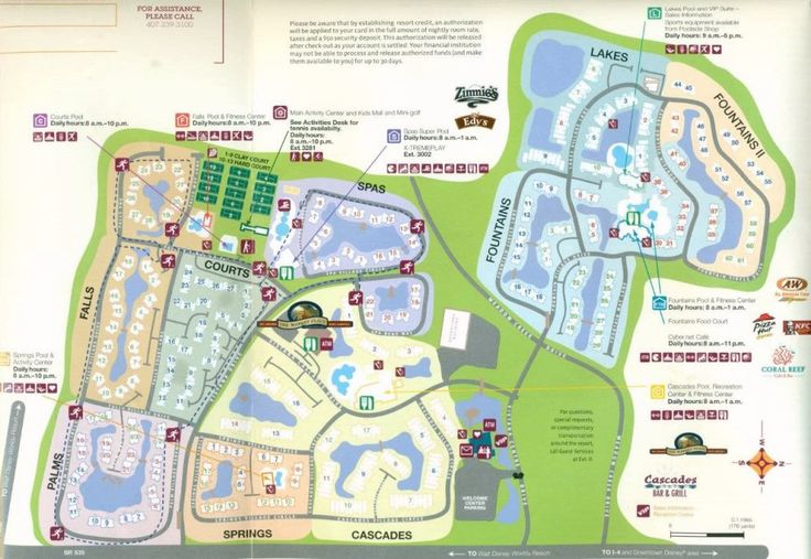 Map Layout Sheraton Vistana Resort Villas, Orlando  Maps of resorts