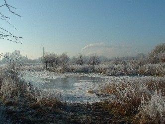 Uiterwaarden Renkum in winterse sfeer, december 2007. Via Geocities.ws
