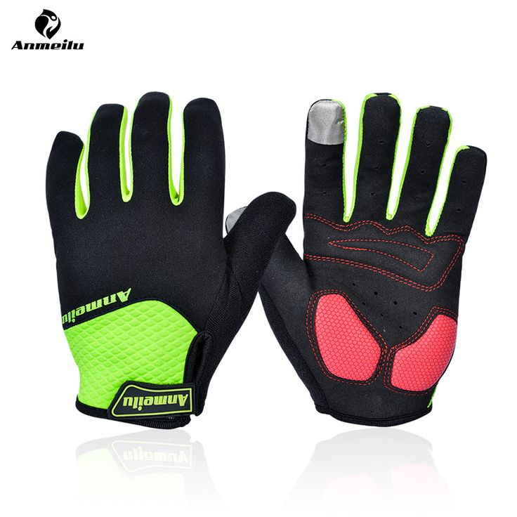 ANMEILU Touchscreen Winter Cycling Gloves Windproof Thermal Fleece Bike Bicycle Gloves GEL Shockproof Guantes Ciclismo Invierno