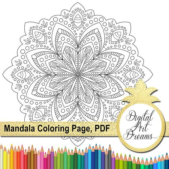 Mandala Coloring Page For Adults Pages PDF JPG