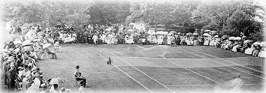 A hostess would see to it that her lawn tennis ground was in order, her croquet laid out, and the archery tools all in place, so the various groups could amuse themselves at these different games.  Sometimes ball games and races were added, and often a platform was laid for dancing.  A band of music was essential to a very elegant and successful garden party, so the hostess would offer a variety of music, both formal and merry.         Some amusements were always provided for the younger…