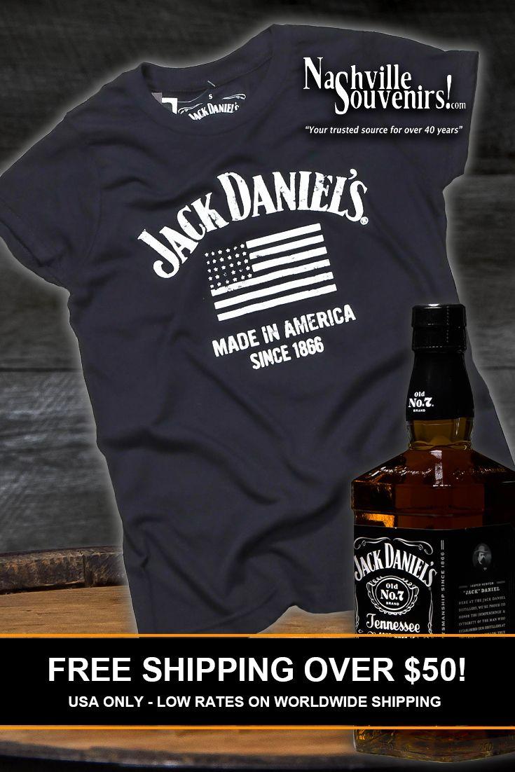 Jack Daniels Made In America Tee Shirt Black
