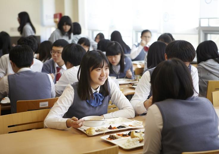 청심국제중고등학교 학생들의 점심시간