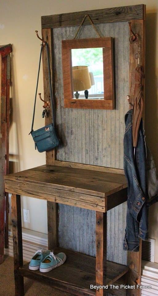 Love this idea of repurposing barn wood and old tin( courtesy of Country Living) | See more about Country Living, Barn Wood and Tins.                                                                                                                                                      More