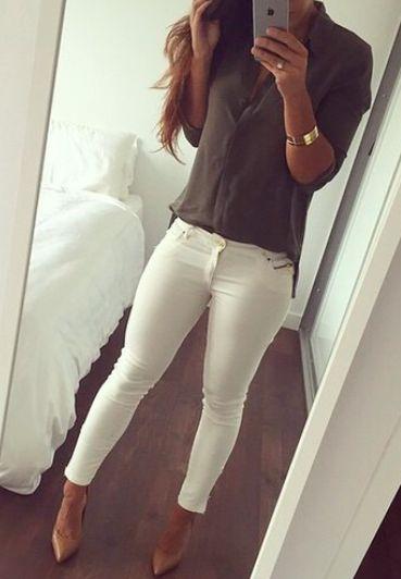 Calça branca pode sim!