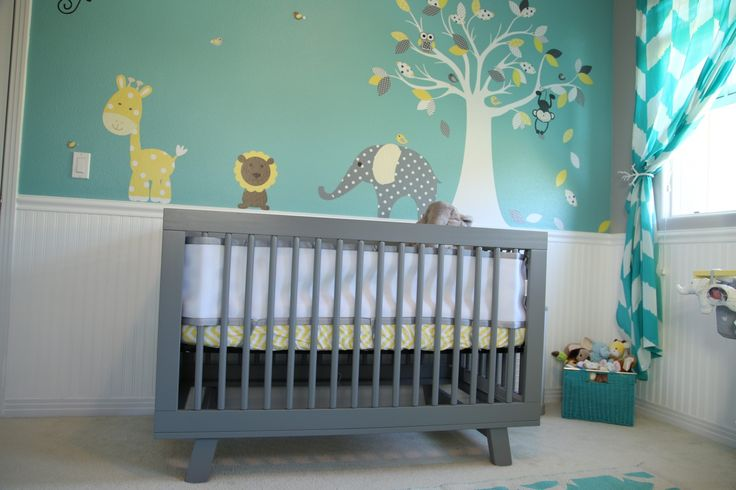 baby room nursery teal nursery yellow nursery grey. Black Bedroom Furniture Sets. Home Design Ideas