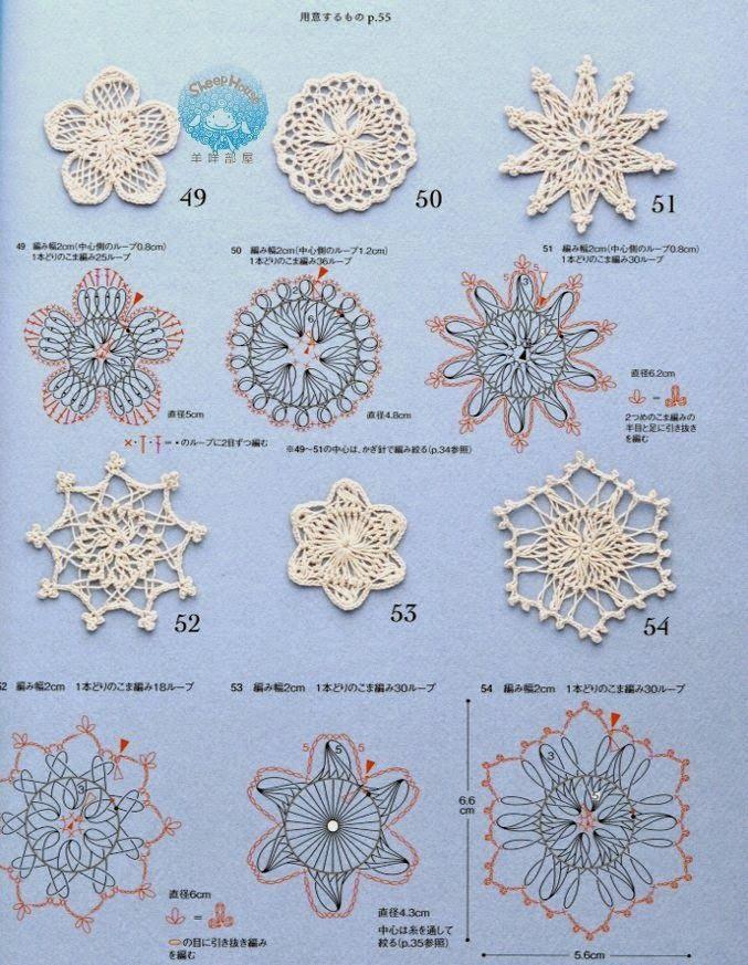 Ivelise Feito à Mão: Motivos..Flores Em Crochê De Grampo