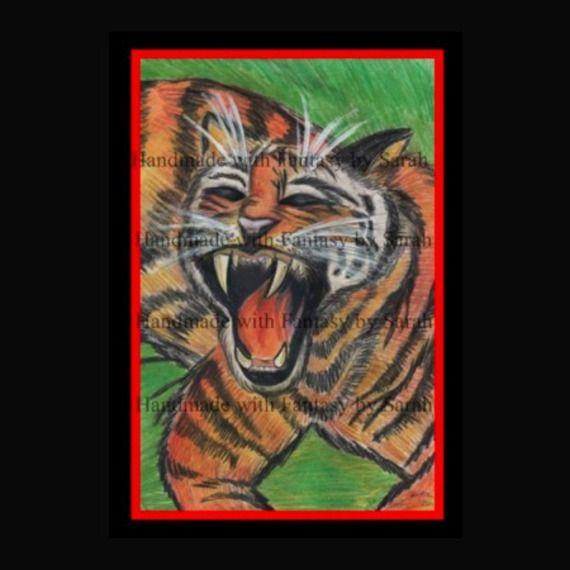Animal portrait of personalized (cm 30 x cm 40).