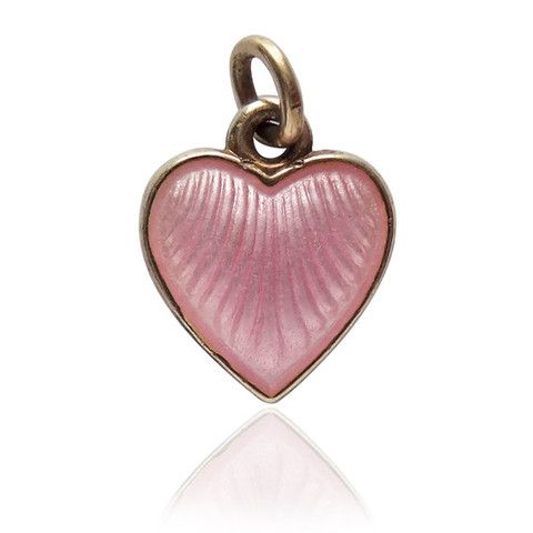 Norwegian Vintage Pink Heart Charm by Norway Jeweller Arne Nordlie | Silver Star Charms