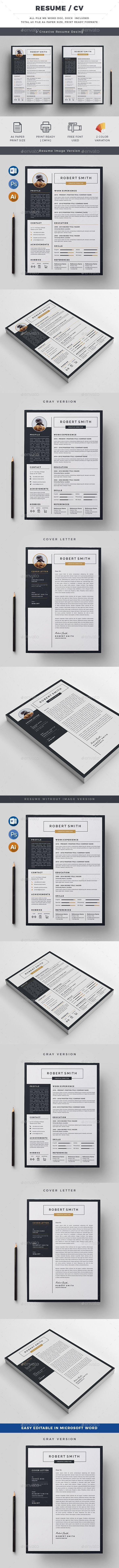 Resume - Resumes Stationery Download here: https://graphicriver.net/item/resume/19980872?ref=classicdesignp