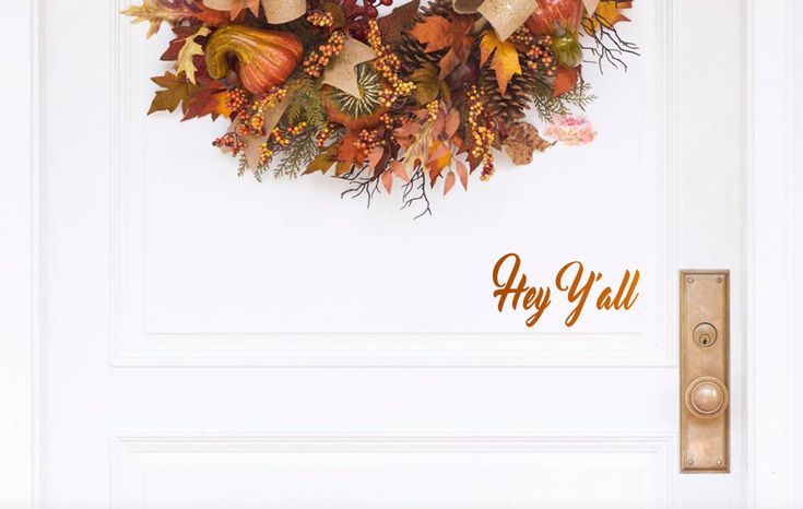 #farmhouse #HeyY'all #DoorDecal - Door Decals - #DoorStickers - Door Decal - Door Sign - #Y'all Stickers - Front door #decal - #Entryway Decor - Wall Deco by LaVieEnRosesDesigns on Etsy