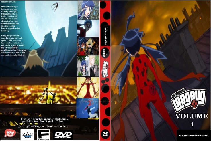 Miraculous Ladybug Fake Anime DVD Cover by DrMuttonchops