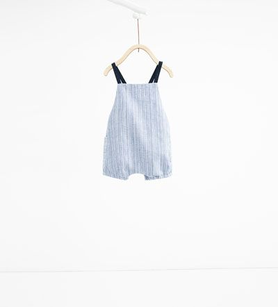Striped romper suit-DRESSES AND ROMPER SUITS-MINI | 0-12 months-KIDS | ZARA United States