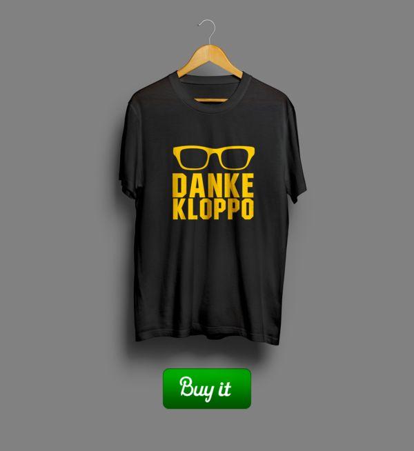 Danke Kloppo   #Боруссия #Дортмунд #BV #Borussia #Dortmund #Die #Schwarzgelben #Football #Club  #tshirt #футболки #футбол #logo #Danke #Kloppo