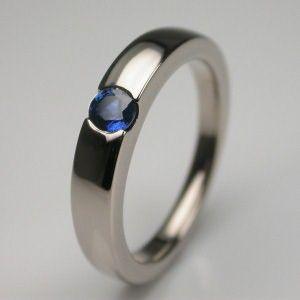Sapphire Platinum Engagement Rings UK by Contemporary Designer based in London. British Engagement Ring designer Stephen Einhorn creates handmade modern Sapphire Rings Saphire with sapphires hand made in London.