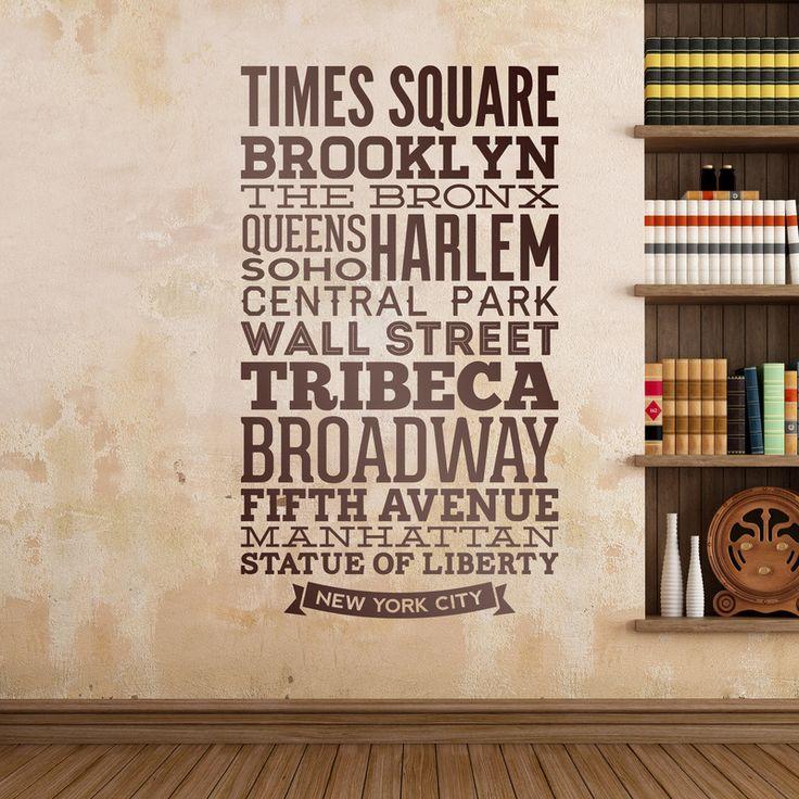Tipográfico Calles de Nueva York - VINILOS DECORATIVOS Vinilos Decorativos: Señal Nueva York #decoracion #teleadhesivo #nuevayork #nueva #york