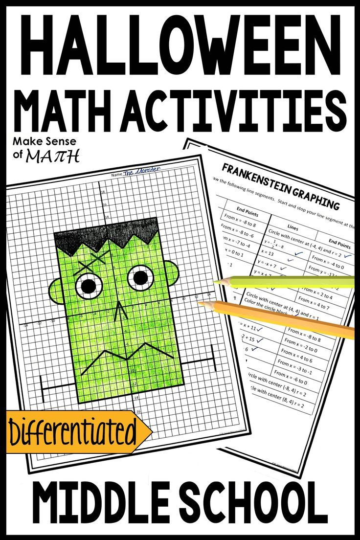 Check out these Halloween math activities that are perfect for 6th grade [ 1104 x 736 Pixel ]