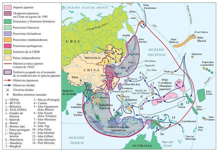 20. La Segunda Guerra Mundial. La campaña americana del Pacífico, 1943-1945