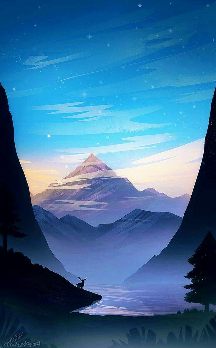 Beautiful Landscape Illustration Fantasy Landscape Anime Scenery