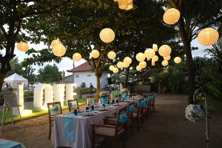 Beachside reception by Bali Brides, one of my favourite hotels  http://www.balibrides.com.au/bali-wedding-packages