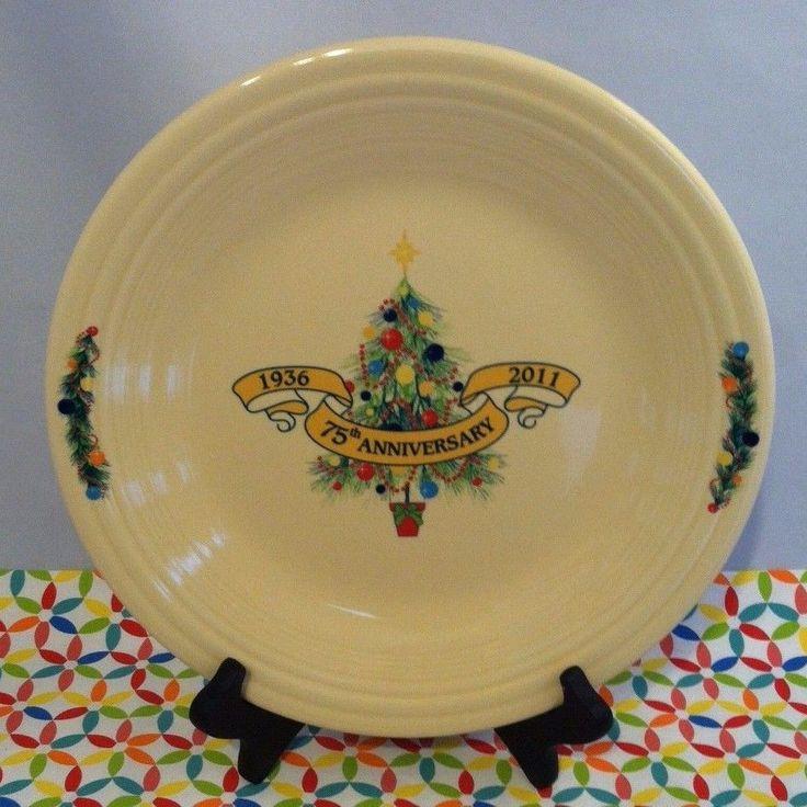 Fiestaware Christmas Tree Dinner Plate Fiesta 2011 75th Anniversary Marigold NWT #Fiestaware #fiesta #anniversary #tree #christmas #christmastree #holiday #madeinusa