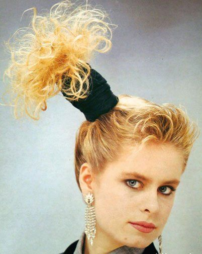 Leaning tower of scrunchies - 25 Fashion Mistakes of Our Youth: Crop Tops, Crimpers, and Scrunchies