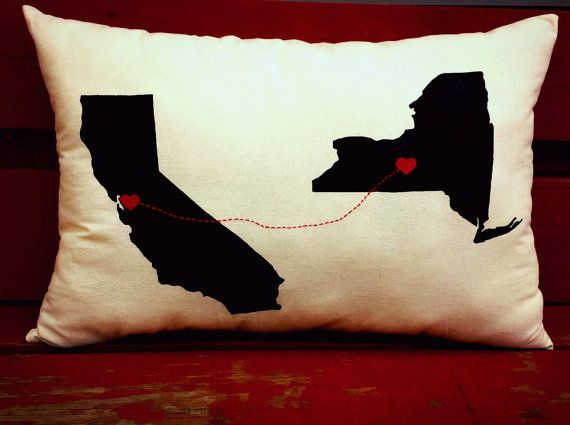 Love Connection Customized State Throw by LittleLauraLouCrafts, $20.00