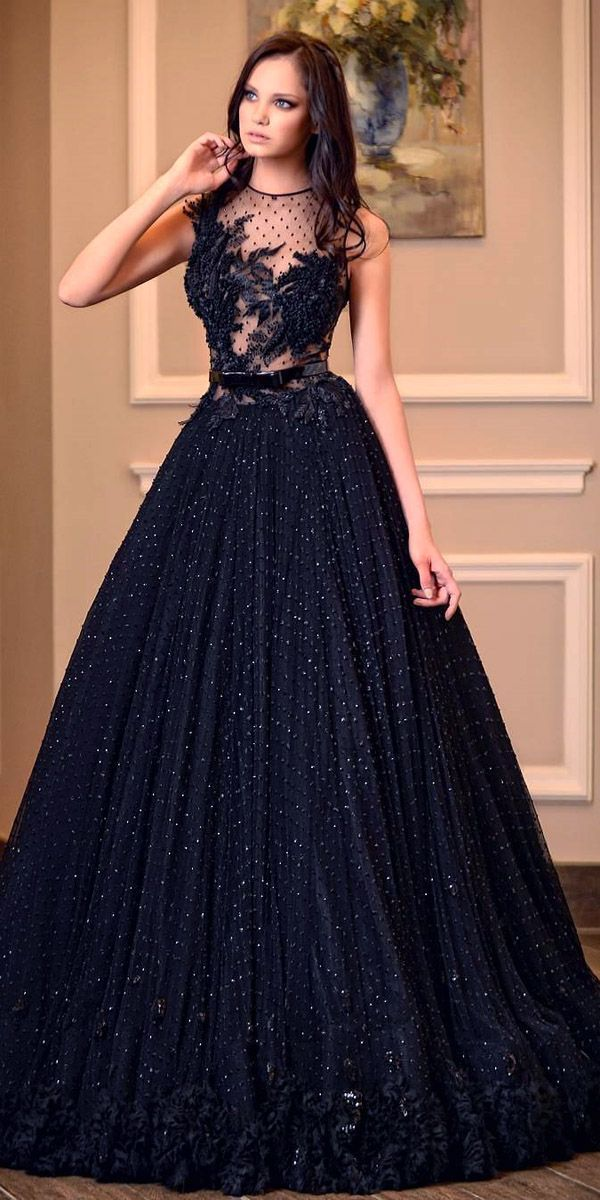 wedding dresses black