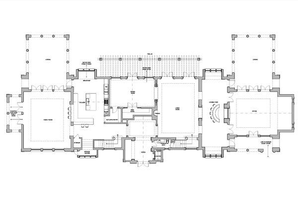 8 000 Square Foot Miami Beach Mansion Main Level Floor Plan Address 40 Star Island Dr Floor Plans Luxury House Plans Miami Beach Mansion