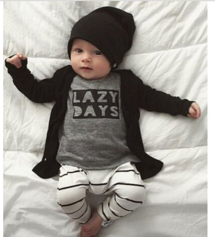 Lazy Days Set /Baby Boy Romper / Coming Home Outfit / Baby Shower Gift / Newborn Baby Boy / Baby Boy Clothes / Baby Present / Modern Baby / Jumper / Black & White Baby / Trendy Baby