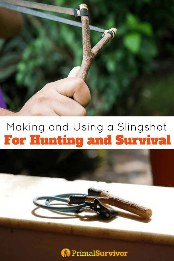 Making and Using a Slingshot Bow For Hunting and Survival situations. #slingshot #catapult #DIY #survival #huntings #preppers #selfdefense #shtf #primalsurvivor