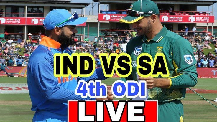 LIVE india vs South Africa 4th ODI live cricket match